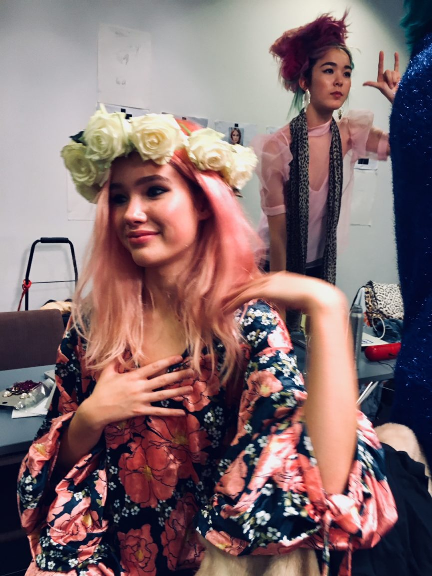 bruno weppe hair extension fashion show hair dresser pink hair models