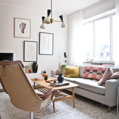 Hemma hos Anna och Mattias – en eklektisk pärla med massa härlig färg och design