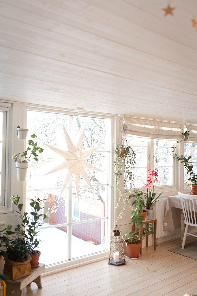 Tonvis med snö, hemvändarartikel och besök i ett fint hem