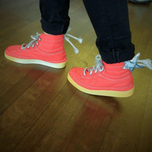 Pimpade skor