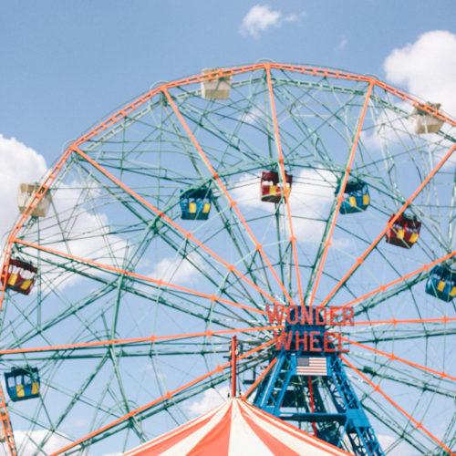 Resan till New York; en dag på Coney Island