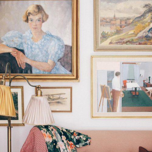 Ett vintagehem hos Louise Lemming i Midsommarkransen