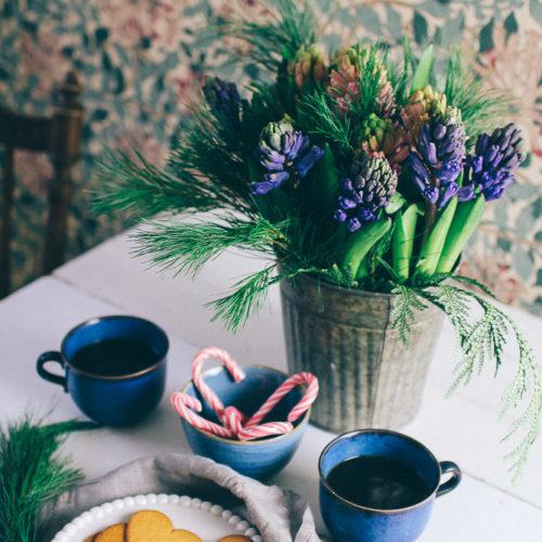 Min fredagsbukett i december med hyacint