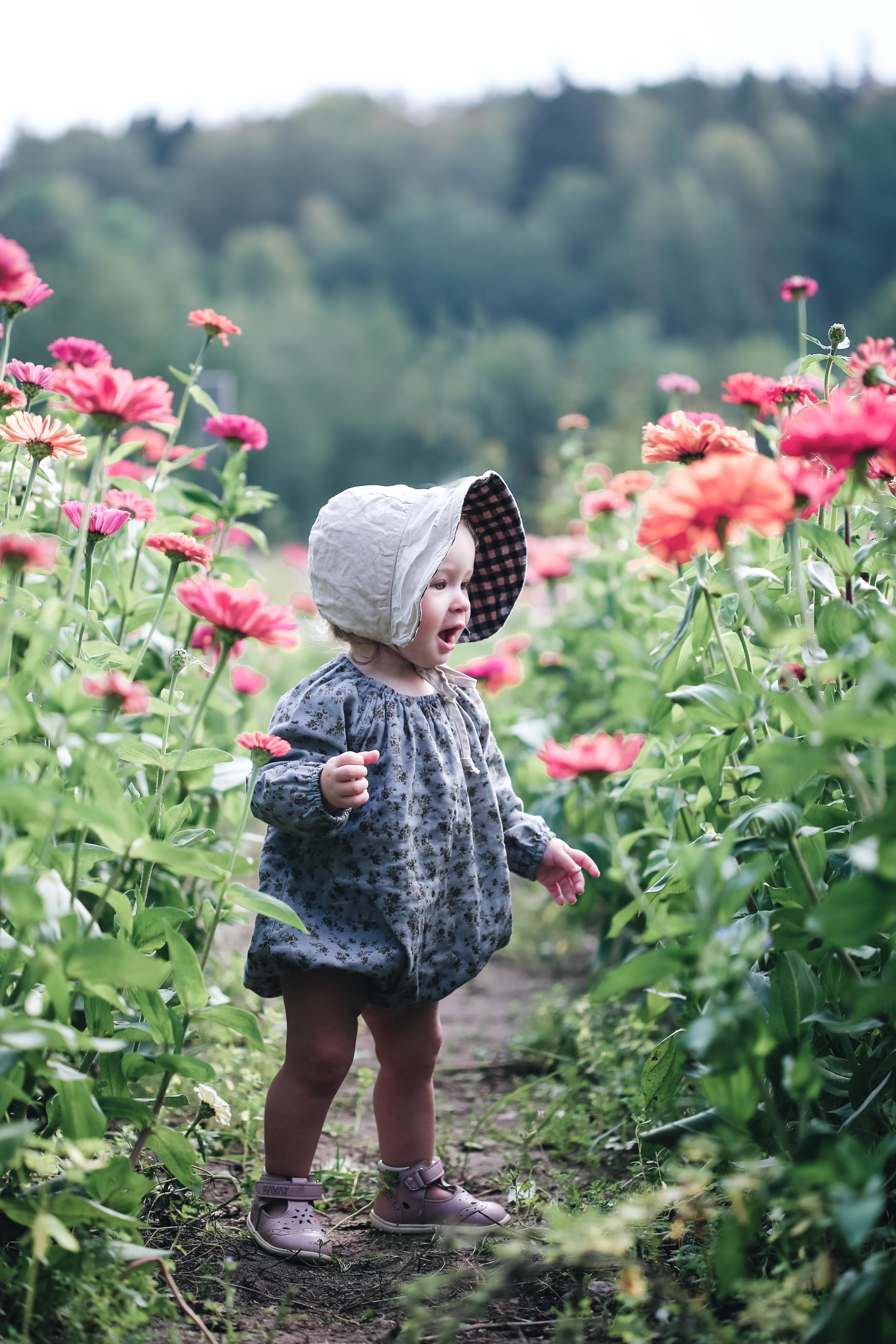 Bland blommor och blad