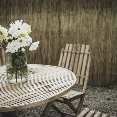 Uteplats – En vägg av gräs