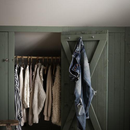 Den platsbyggda garderoben