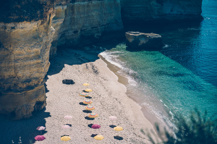 Carvoeiro och Instagramvänliga parasoller.