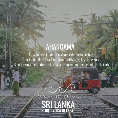 I am going to Sri Lanka