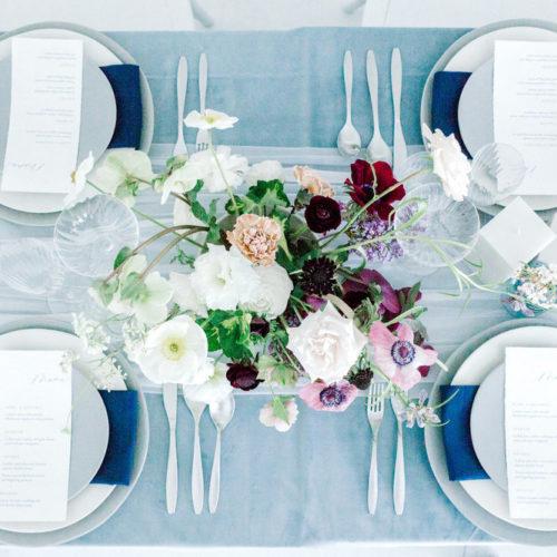 Moodboard för bröllop med Pantones färg för 2020