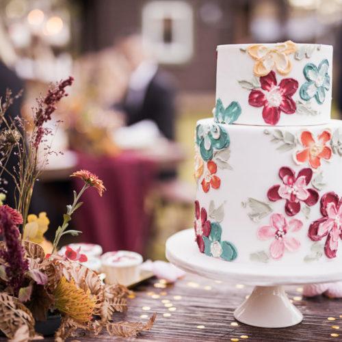 Inspiration till färgglatt höstbröllop