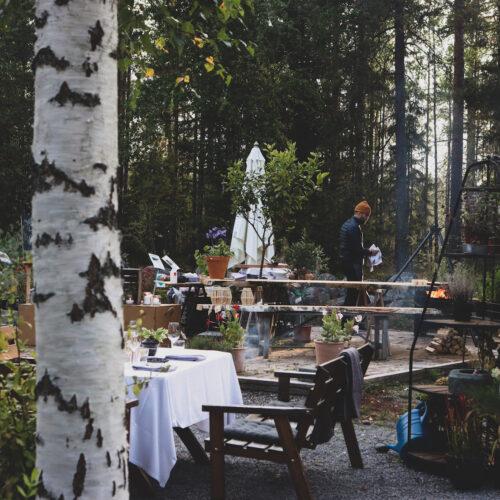 Utomhusmiddag med Eco Camp i Umeå