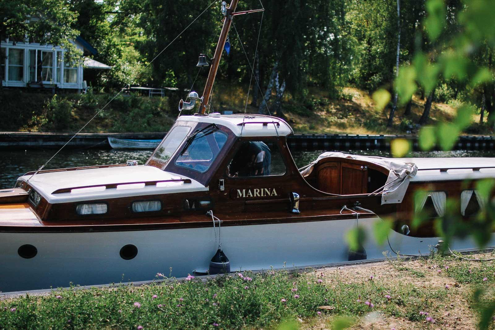 Hej från en båt i Mälaren