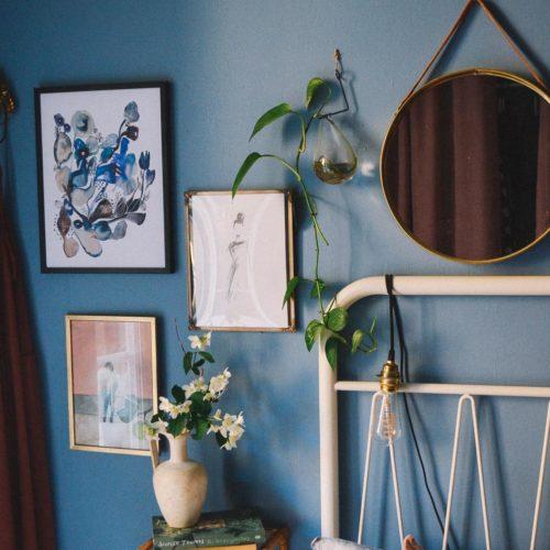 Favoritprint från Kajsa Visual i sovrummet