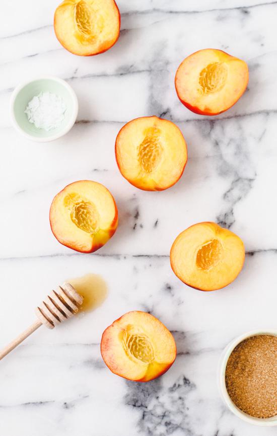 grillade persikor recept