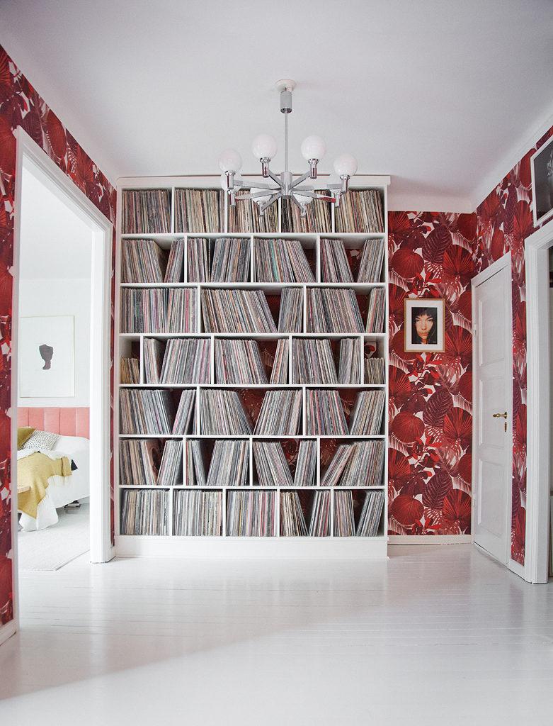 Vinylhylla design Anna Lidman – Foto Isabelle Pedersen