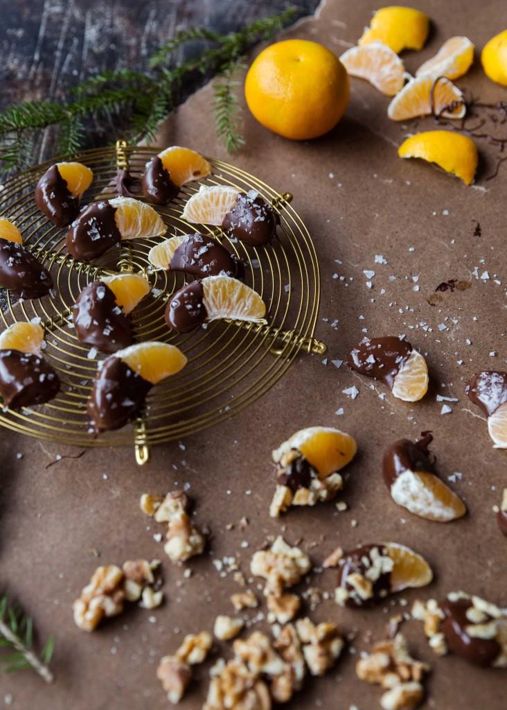 chokladdoppade clementiner recept