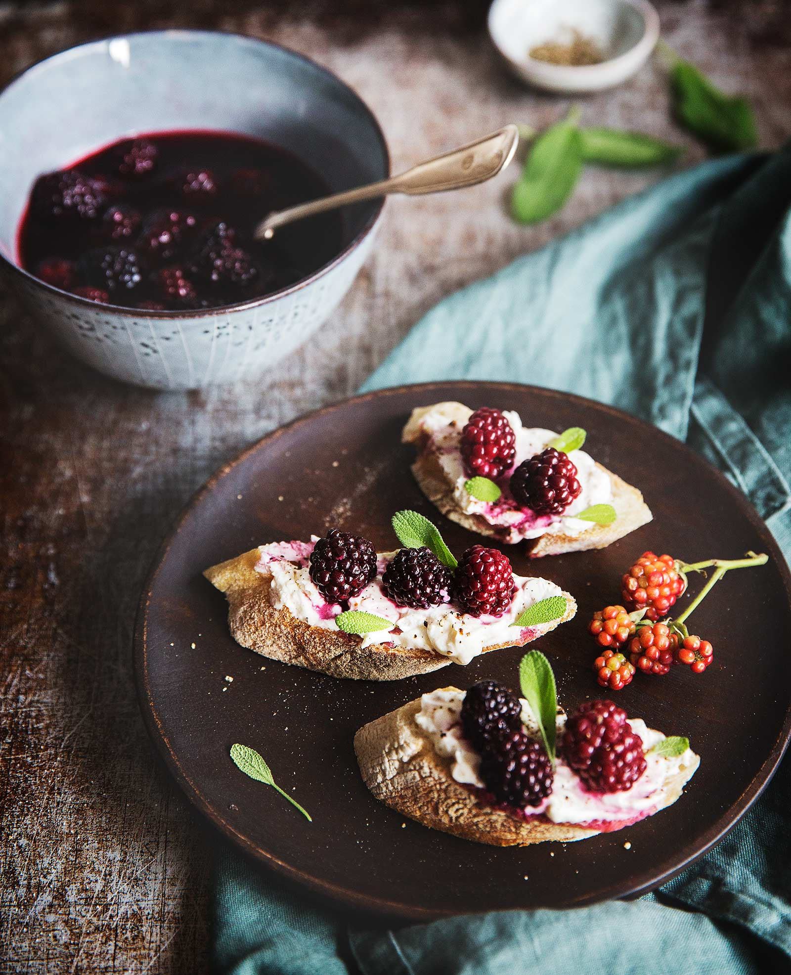 Blackberries_ toast