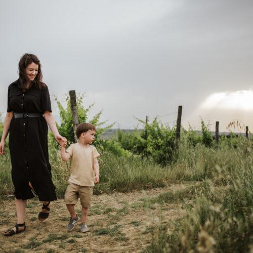 Familjefotografering i Toscana