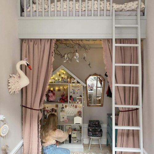 Inspiration till att inreda med en en våningsäng eller loftsäng i barnrummet