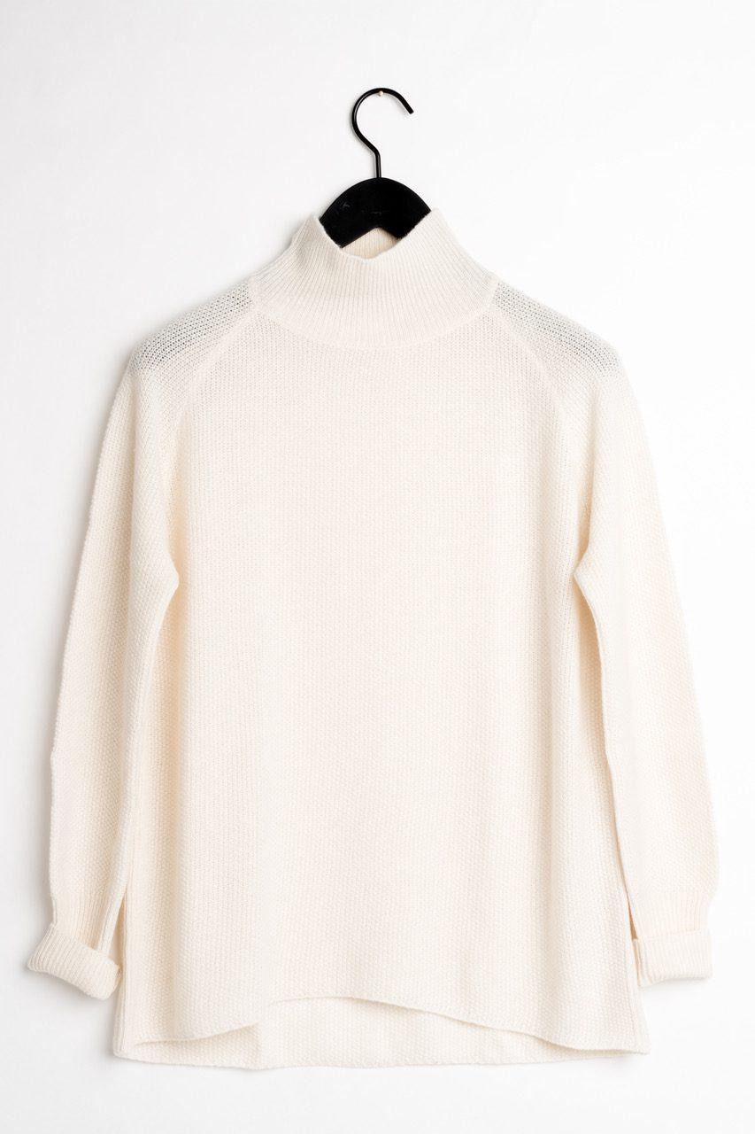 kashmir tröja vit cashmere