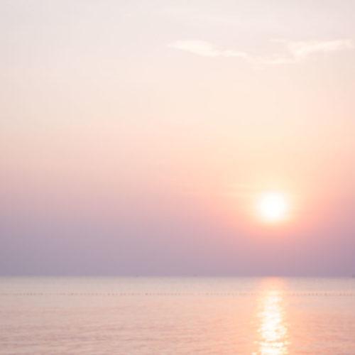 Solnedgång i paradiset.