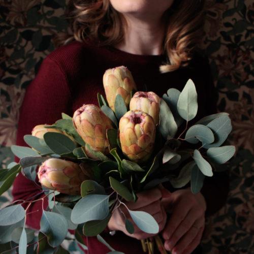 Favorit i repris; fredagsbukett med protea