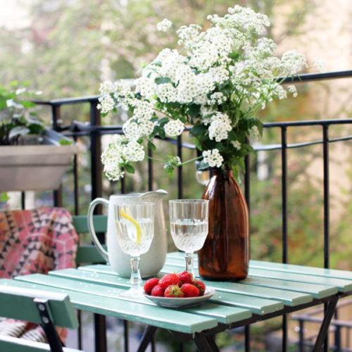 3 bilder från vår balkong