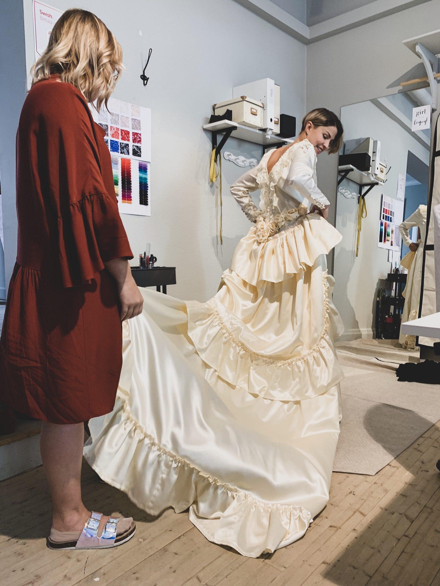 Återbrukad brudklänning