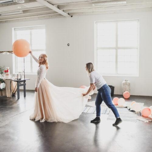 Stylad bröllopsfotografering i Umeå