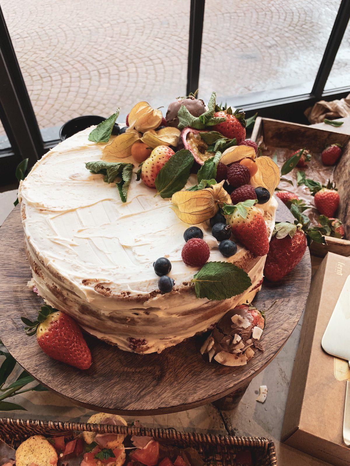 Även tårtan är från Boho Bar Catering