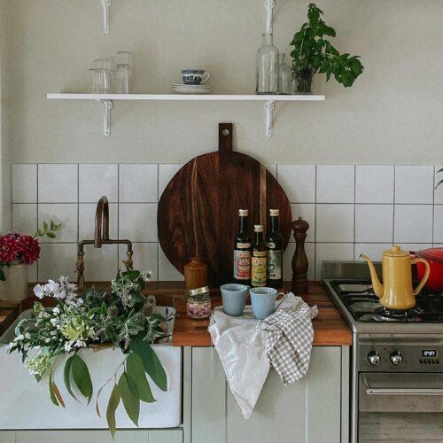 Styling Open Kitchen Shelves