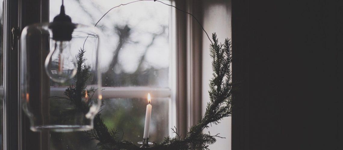 lovely Life DIY ljus krans granris jul