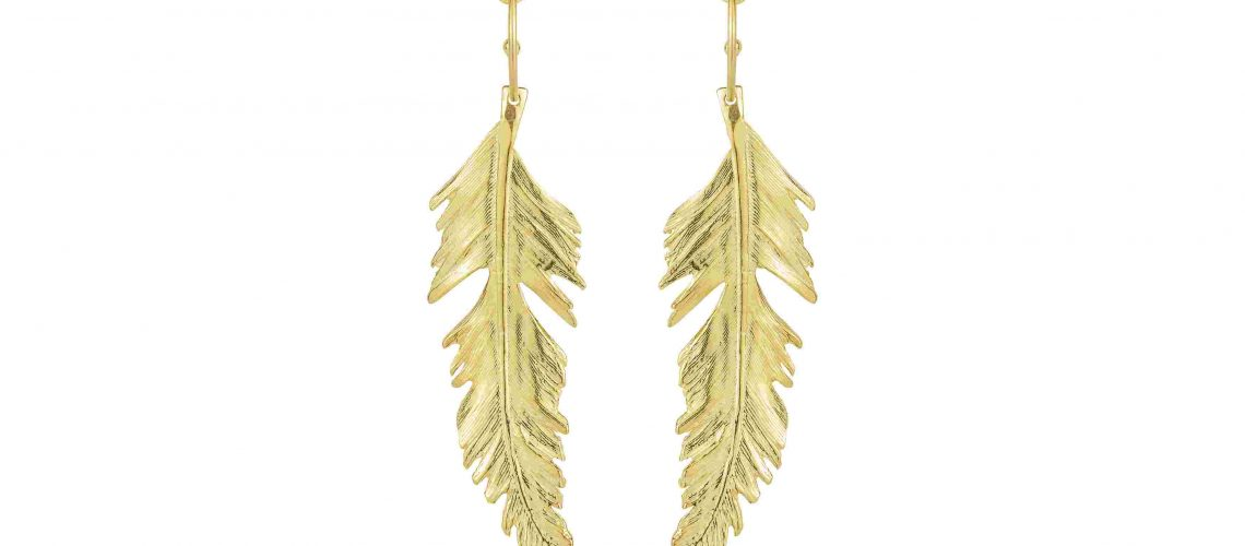 MN Classics Feather Hoop Earring gold