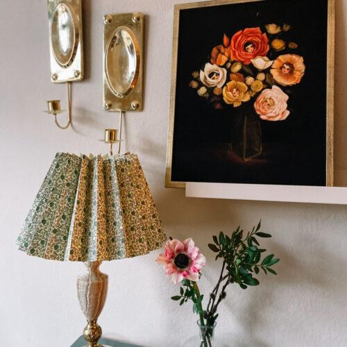 DIY: Gör en plisserad lampskärm av en vintagelampa