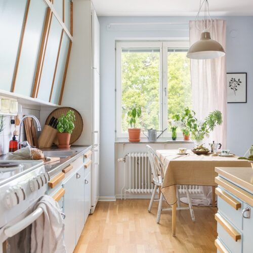 Homestyling med vintage i en retrolägenhet
