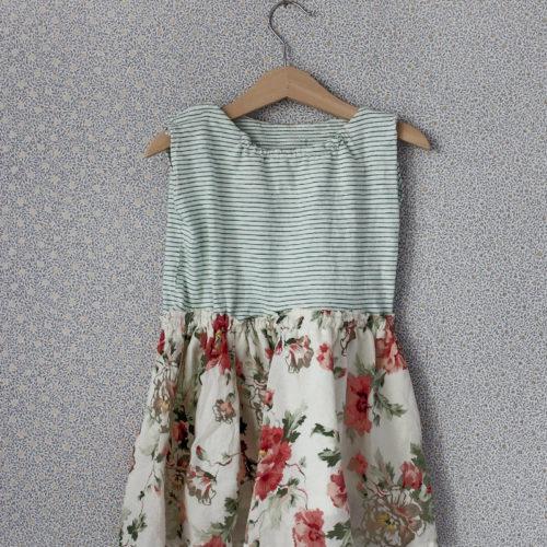 Om en liten klänning och en blommig tapet.