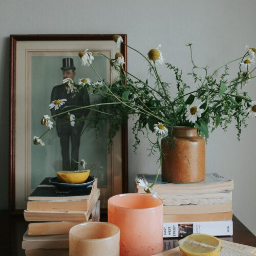 Insomnia & lemon on the bedside table