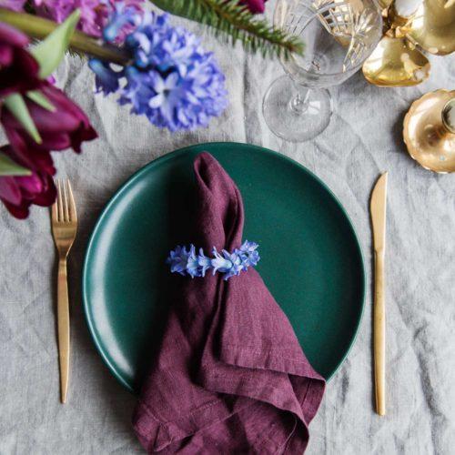 DIY- Gör enkla servettringar av hyacint