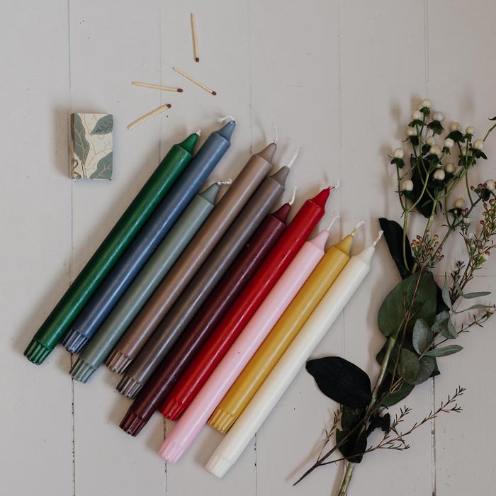 stearinljus i fina farger