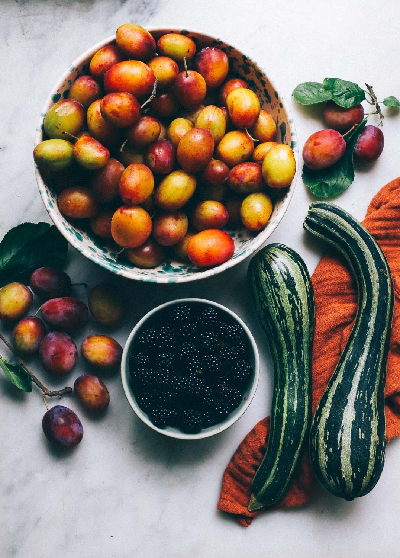 plommon zucchini bjornbar kolonilott