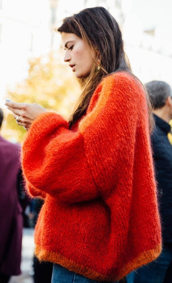 red.knitted.parisfashionweeklovelylife